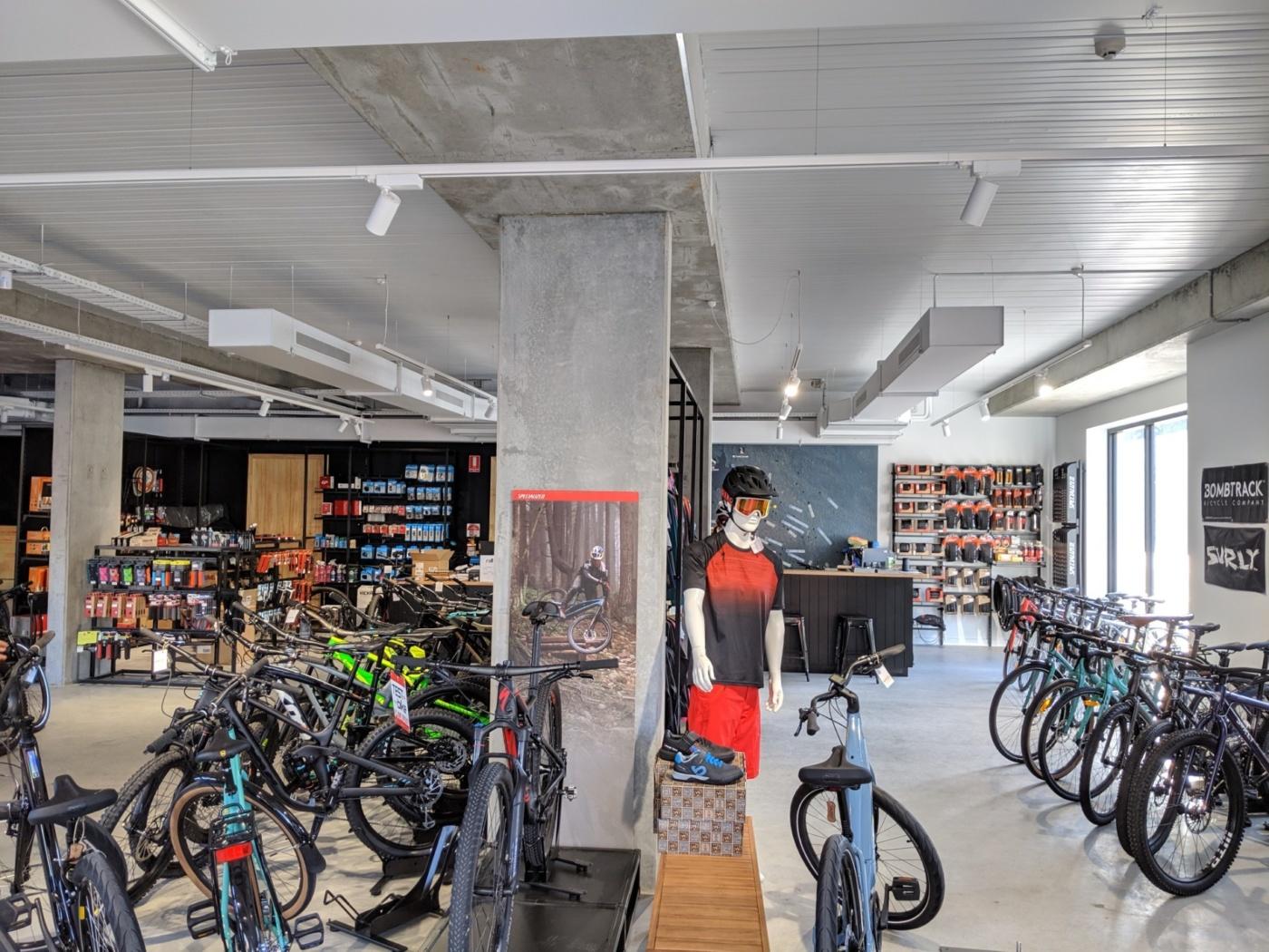 Inside Roll Cycles bike shop